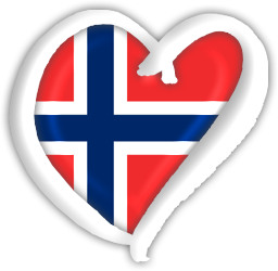 Norway Flag Heart