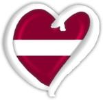 Latvia Eurovision Heart