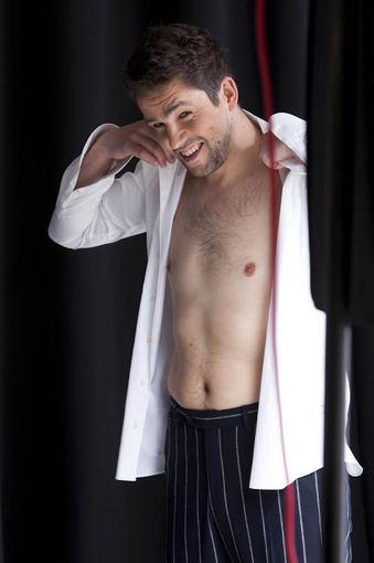Andrius Pojavis shirtless