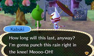 kabuki hates rain