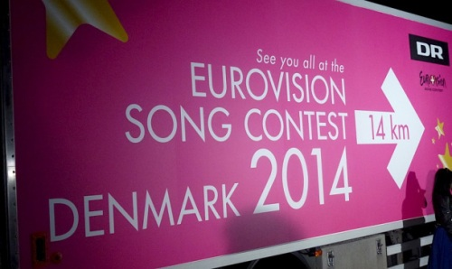 Eurovision roadsign