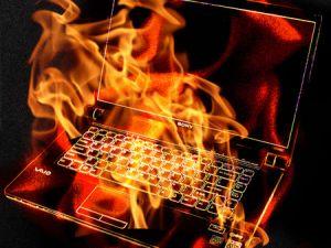 laptop explode